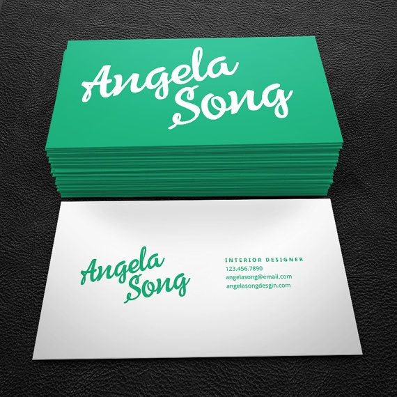 Teal and white script premade business card by brandi lea designs on teal and white script premade business card by brandi lea designs on etsy https reheart Image collections