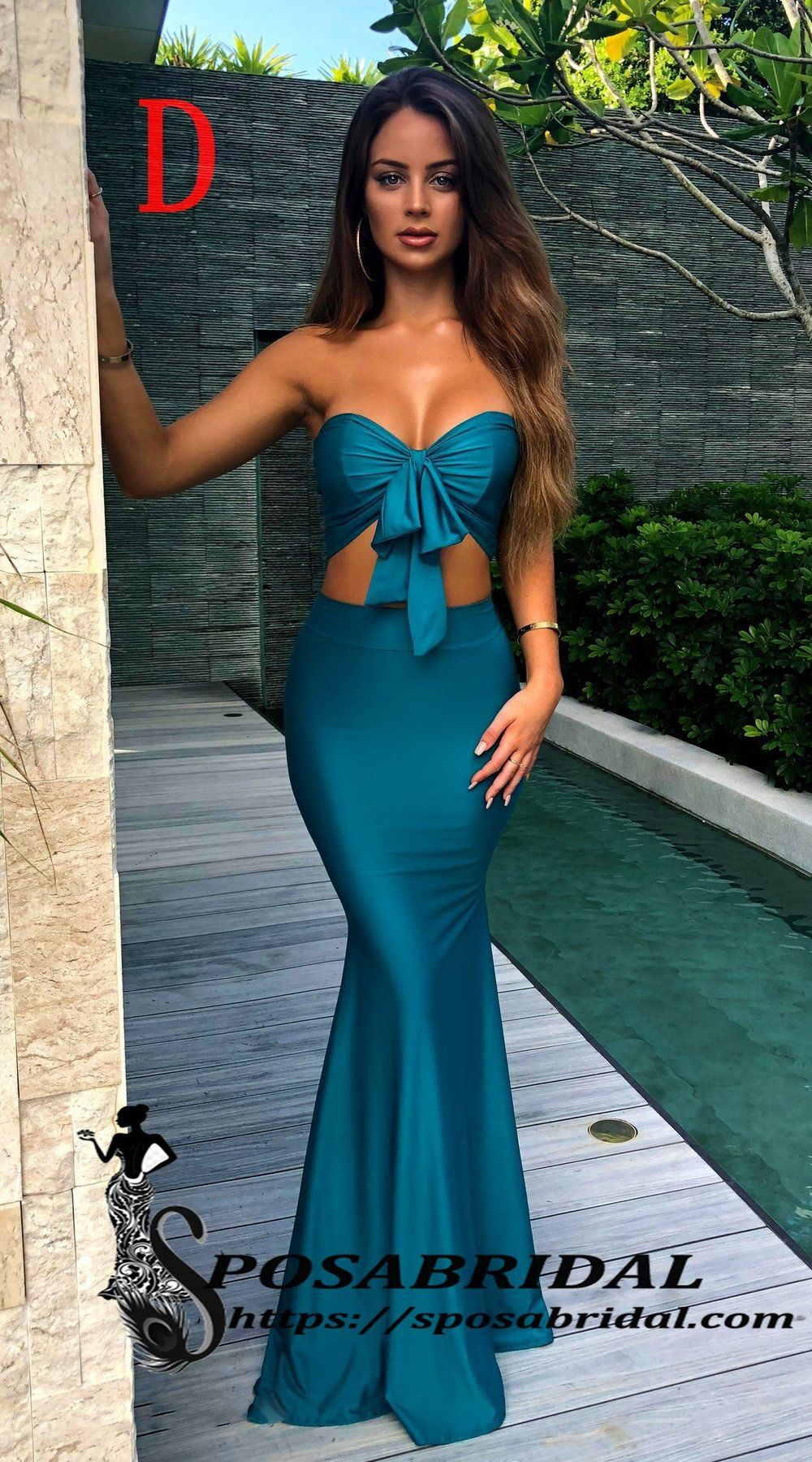 2019 Teal Long Cheap Mismatched Elegant New Fashion