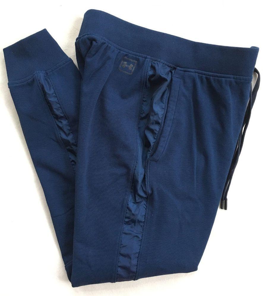 63d9e1197 UNDER ARMOUR Mens Threadborne Terry Jogger Pants Navy Blue 1310577 NWT $70  LARGE #Underarmour #ActivewearPants