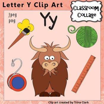 Alphabet Clip Art Letter Y Items Start W Y Color Personal