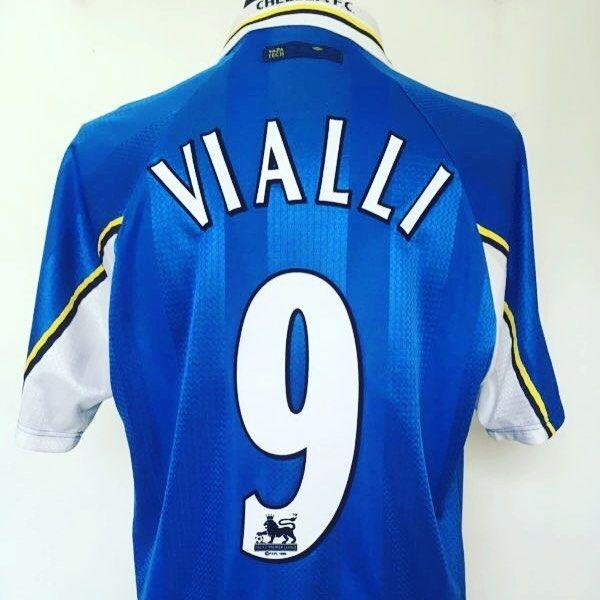 1997-99 Chelsea Umbro Home Football Shirt Jersey (L) VIALLI  9 - no hair  but amazing shirt from  cultfootball  chelsea  CFC  vialli   footballshirtcollective 55cfc4180