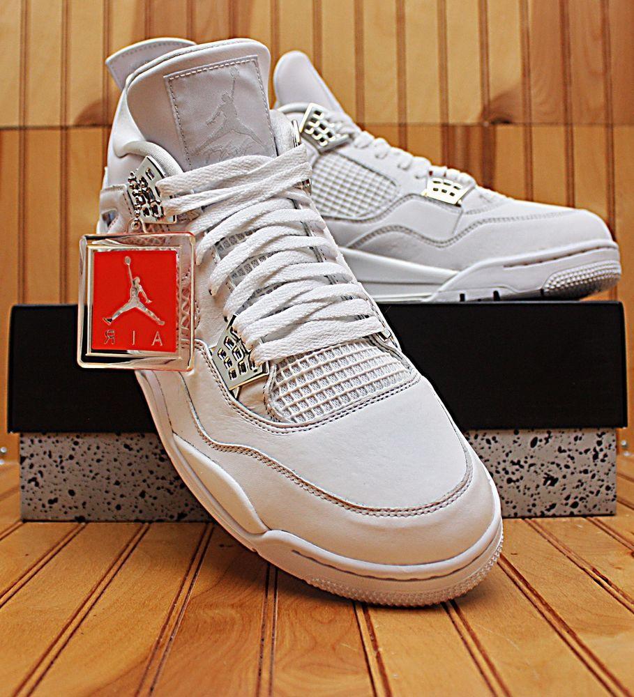 56edf448258e73 Details about 2016 Nike Air Jordan IV 4 Retro Size 13 - Pure Money White  Silver - 308497 100