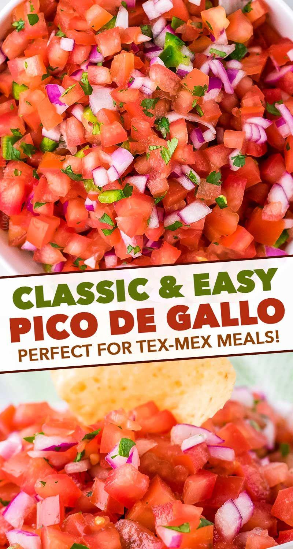 Pico de Gallo (classic and easy recipe!) - The Chunky Chef