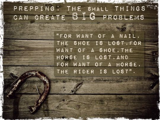 Prepping The Small Things Can Create Big Problems Emergency Prepping Survival Survival Prepping