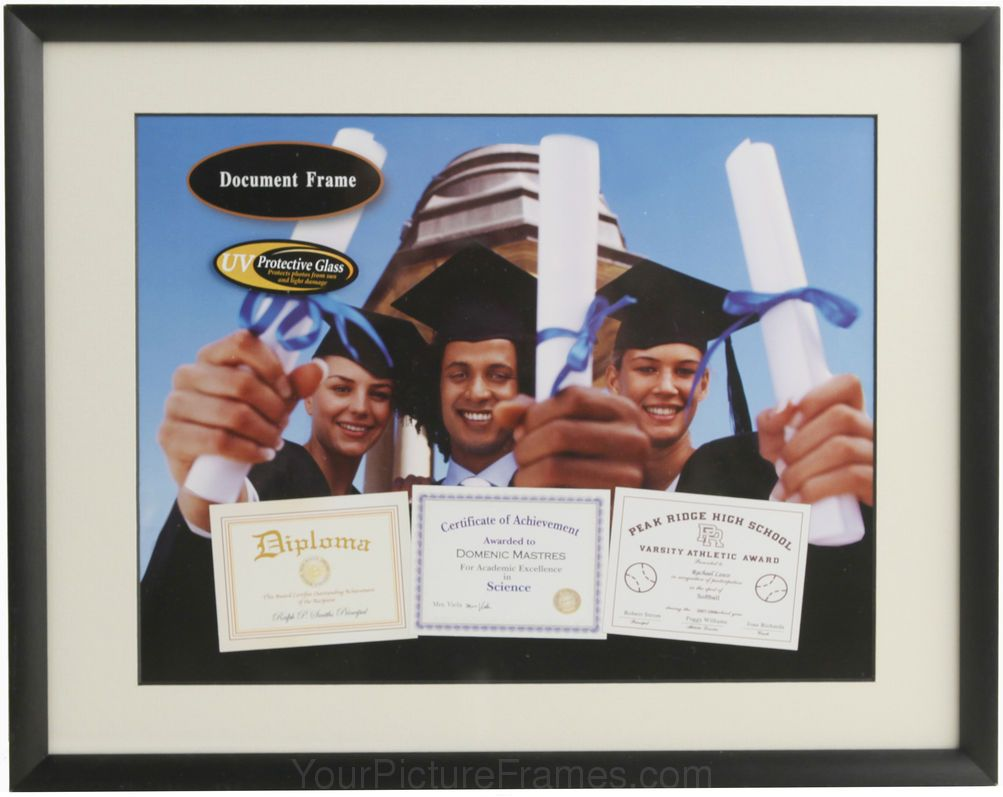 Cosmo Black Metal Matted Archival Diploma Frame Diploma Frame