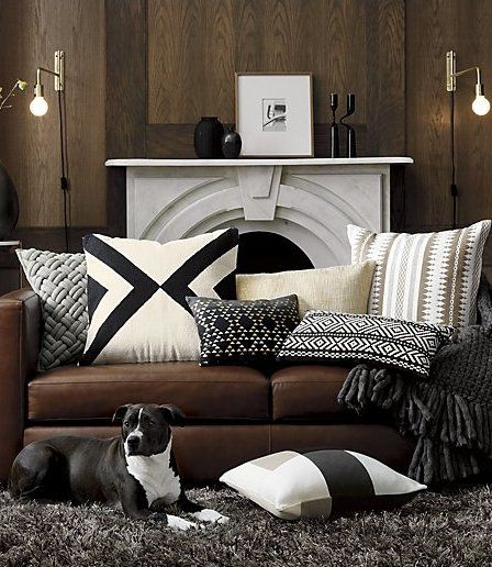 23 Xbase Pillow With Feather Down Insert Reviews Cb2 Brown Living Room Decor Brown Couch Living Room Brown Living Room