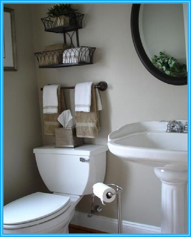 NO TOWELS ABOVE TOILET. **But I Really Like The Idea Of