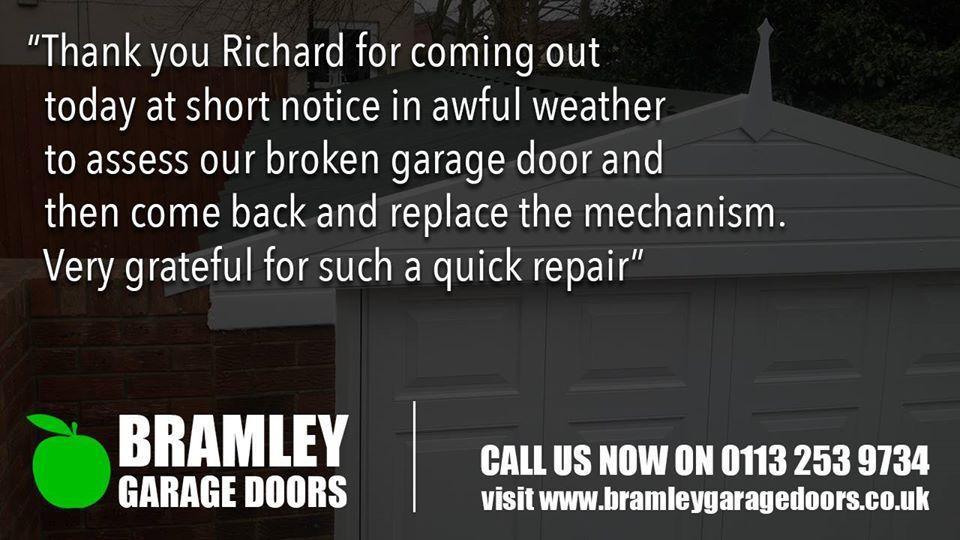 Great Review For Bramley Garage Doors Httpareyouinbusiness