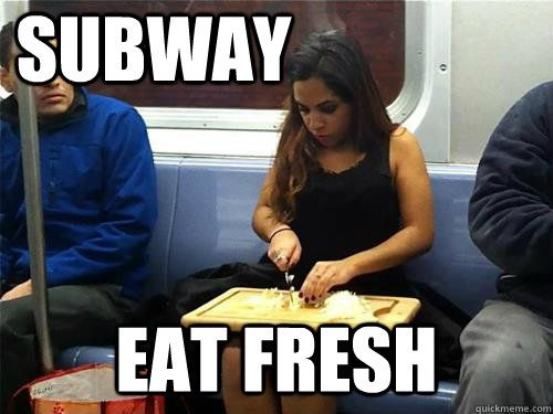 56813fc4a4b2aea0e2368d45d304d185 subway eat fresh haha pinterest humor, funniest photos and meme