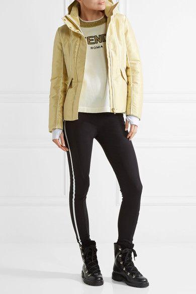 Fendi - Roma Metallic Padded Ski Jacket - Gold  ad859d5e1