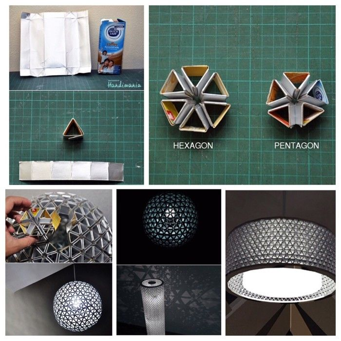 upcycling ideen recycling basteln tetrapack lampe diy. Black Bedroom Furniture Sets. Home Design Ideas