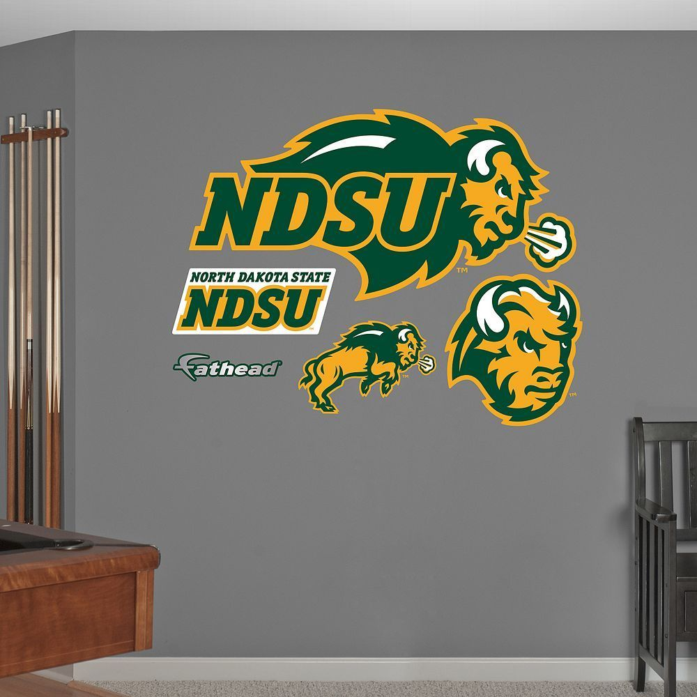 fathead north dakota state bison wall decals multicolor pinterest