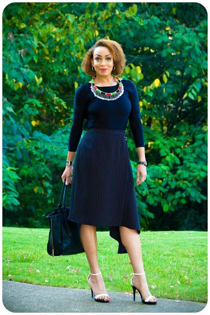 Erica Bunker | DIY Style! The Art of Cultivating a Stylish Wardrobe: Review: Vogue 8956 | The Asymmetrical Wrap Skirt!