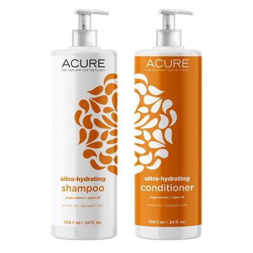 Acure Ultra-Hydrating Shampoo And Conditioner 24 Oz