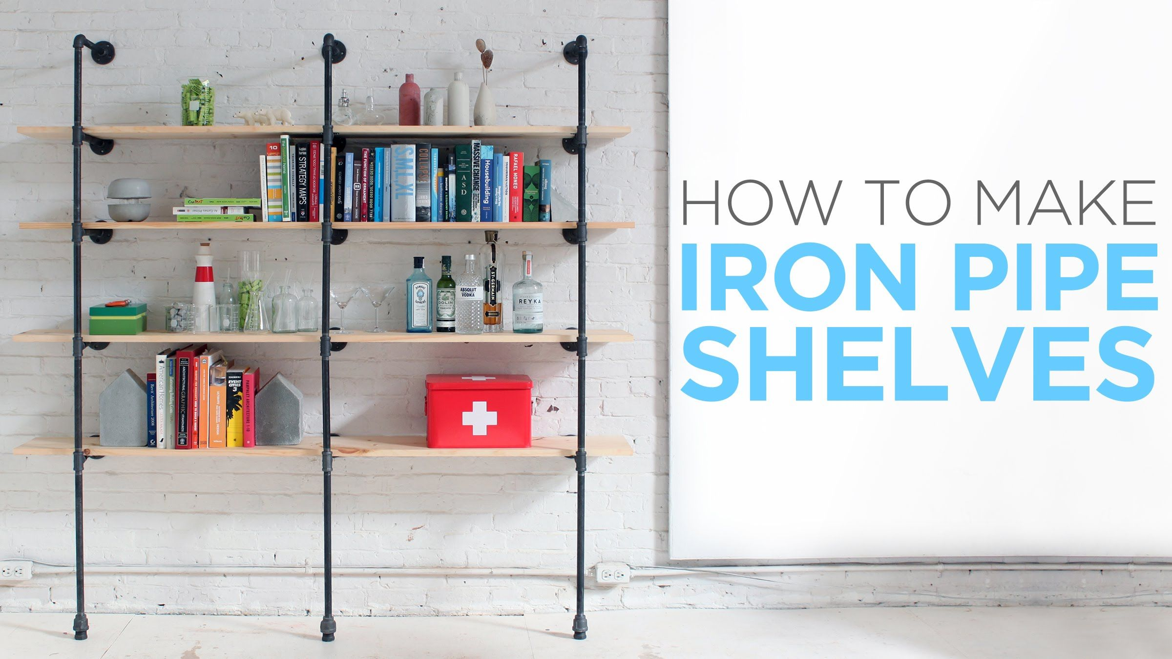 how to make iron pipe shelves | i have a crush on you | pinterest