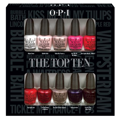 Opi Top Ten Mini Kit Review My Organized Chaos