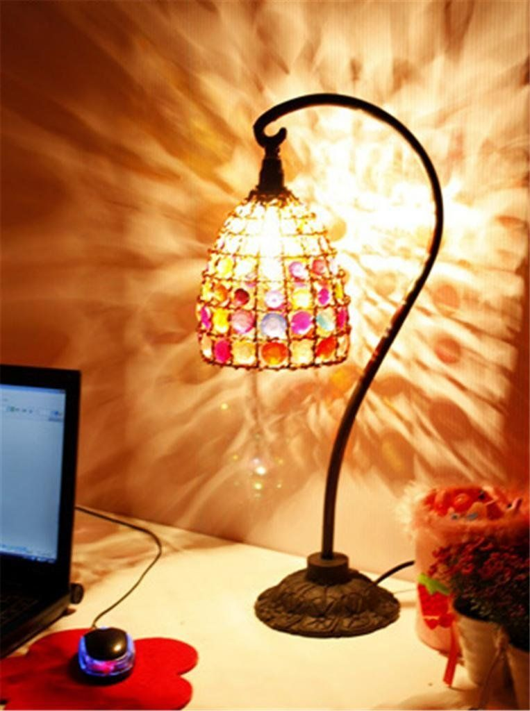 deepon acrylic lamp lights nepalese hand-beaded beaded style lamp table lamp bedroom lamp