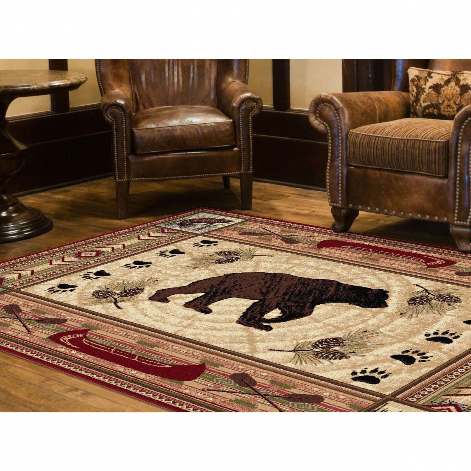 This Unique Nature Themed Area Rug Is Machine Woven Using Durable