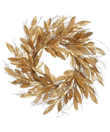 Look at this #zulilyfind! 24'' Bay Leaf Wreath #zulilyfinds