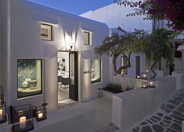 Linea piu boutique in mykonos. designed to compliment the historic