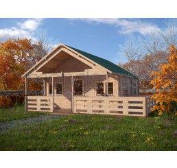Casette in legno garaga in legno box auto casette da for Piani di fattoria con veranda