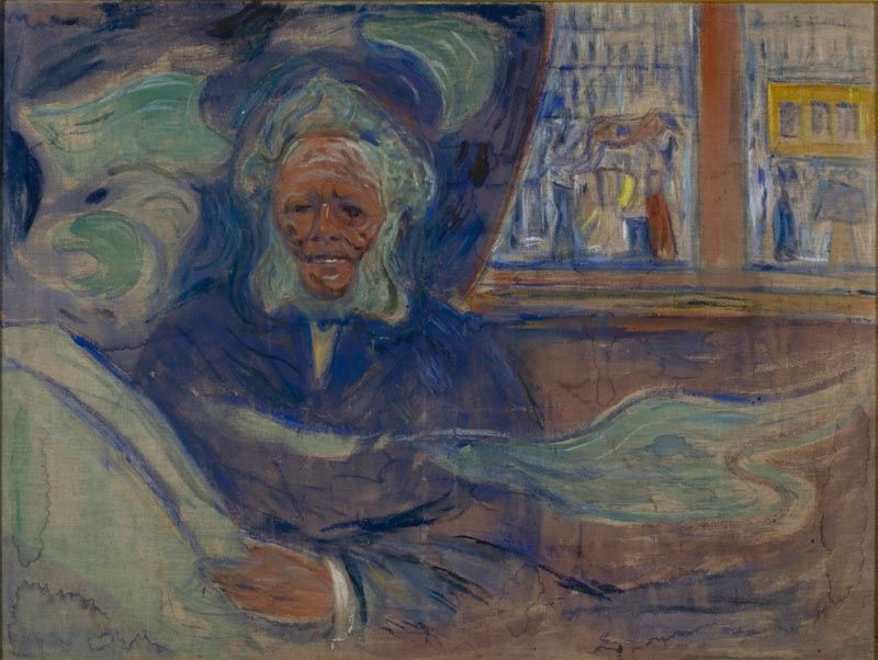 Ibsen at Grand Cafe.1910 by Edvard Munch