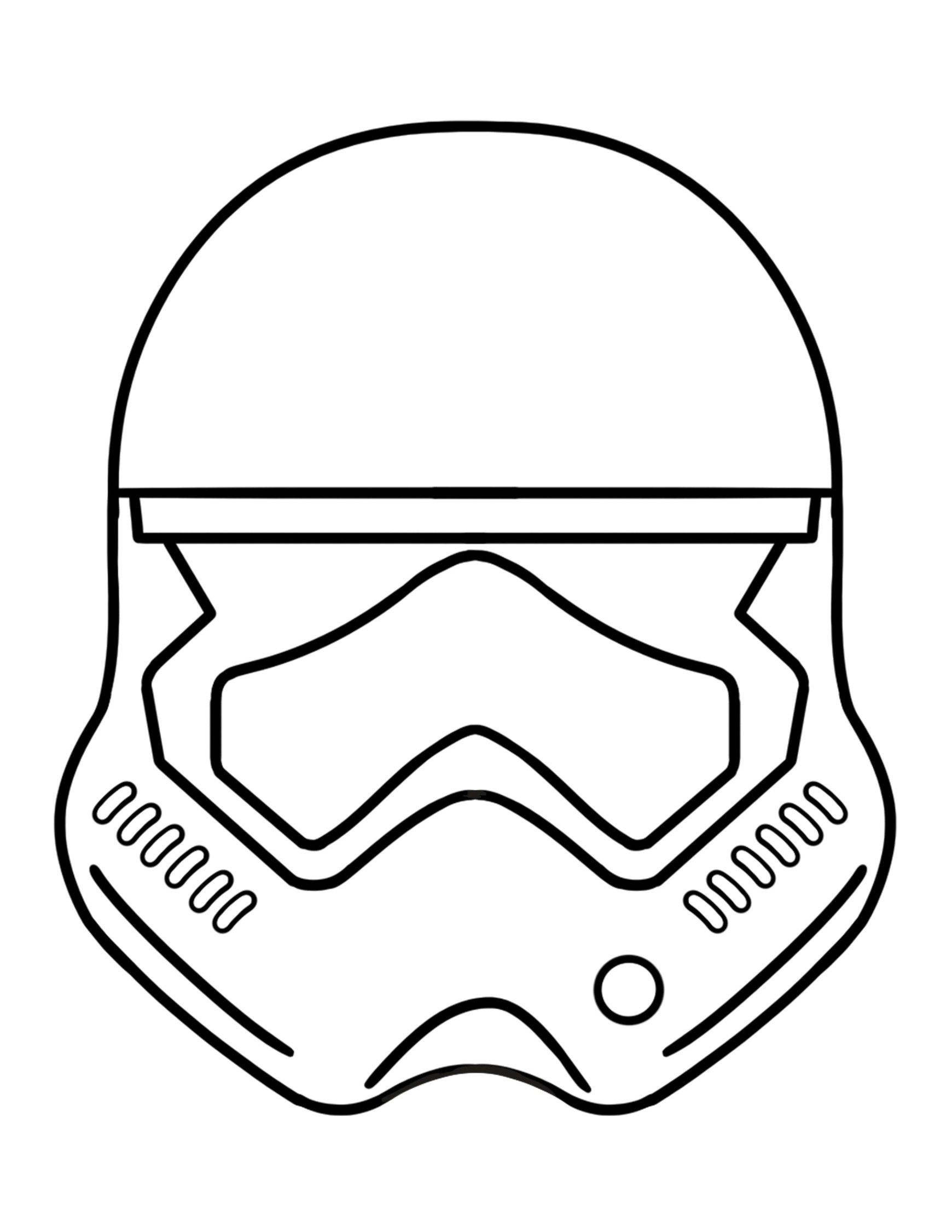 Mask Coloring Pages Best Darth Vader Mask Coloring Page
