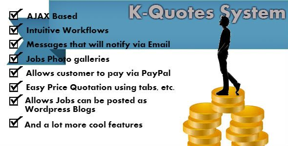 KQuotes Price Quotation System Jobs Messages Price