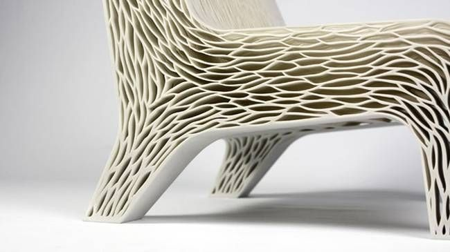 Cellular 3D Printed Chair Is Alternative To Wasteful Upholstered Furniture  (Video)