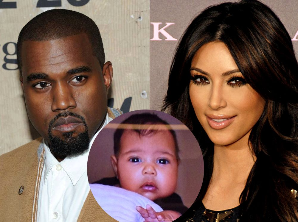 Baby North West S First Photo She S All Kanye Celebrity Moms Celebrity Kids Celebrity Crush