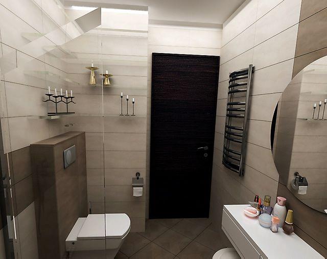 Интериорен проект на малка стандартна баня в панелен блок - списание Жилища