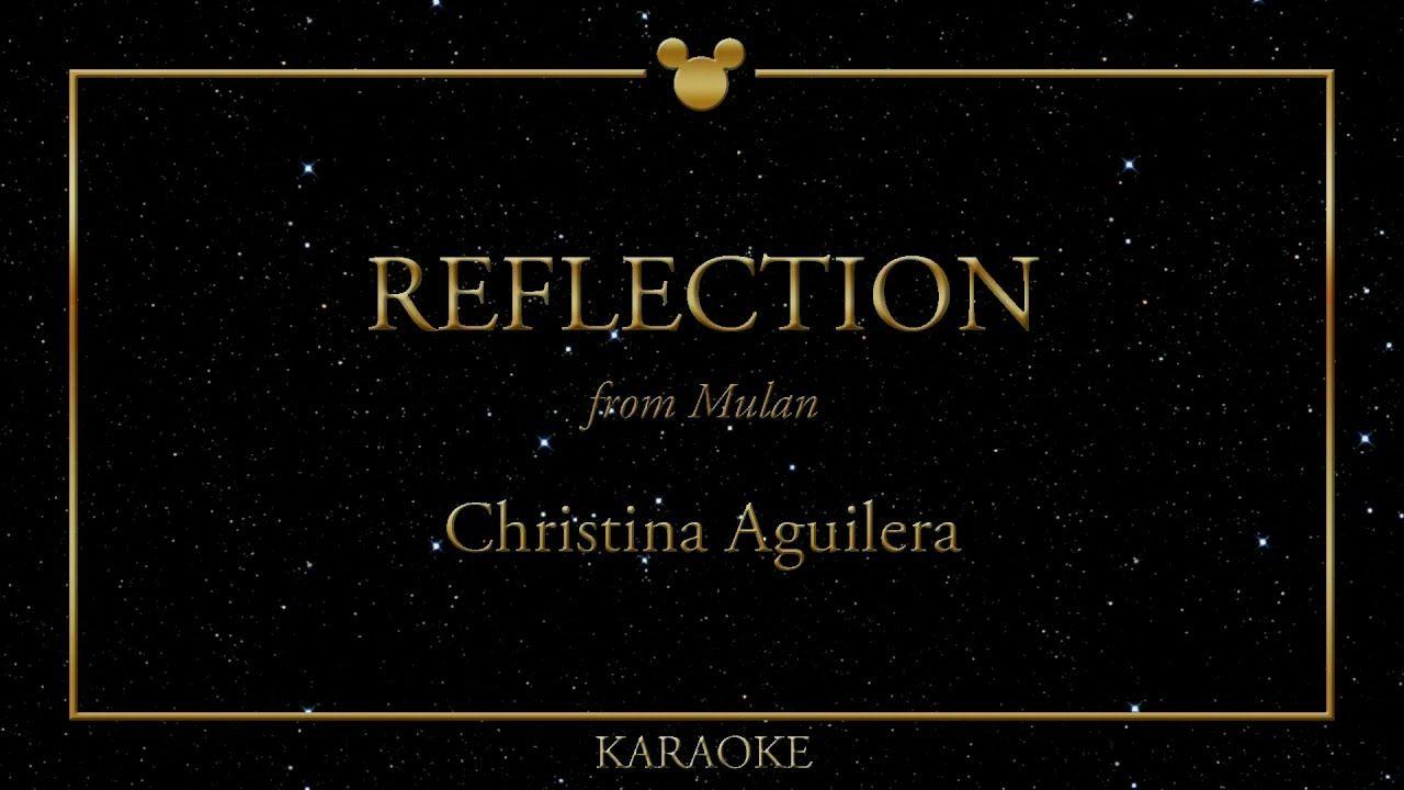 KARAOKE ǀ Reflection - Christina Aguilera