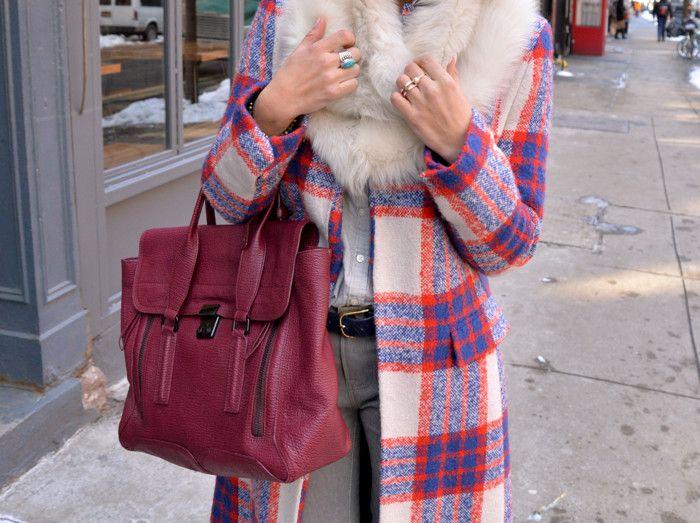 large burgundy bag #winter