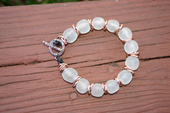 Recycled African Glass Bracelet  Free Standard by DharmaJewelry, $42.00