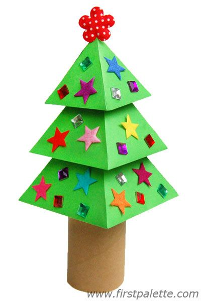 3d Paper Christmas Tree Craft Kids Crafts Firstpalette Com Paper Christmas Tree Crafts Christmas Tree Crafts