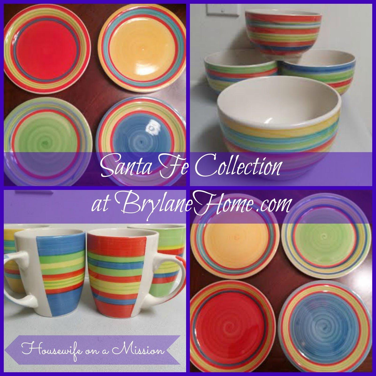 Housewife On A Mission Brylanehome 39 S 16 Piece Santa Fe Dinnerware Dinnerware Fes Santa Fe