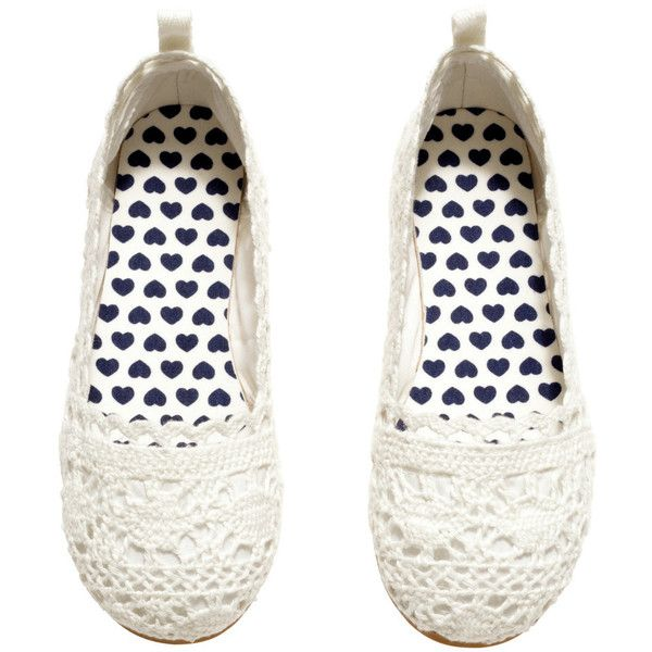 Lace Flats $14.95 ($15) ❤ liked on Polyvore