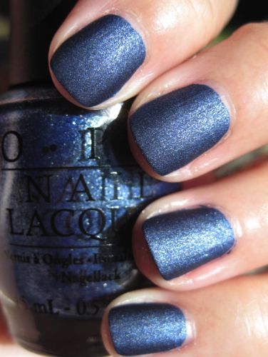 Russian Navy Suede Opi A Shimmery Navy Blue Again Much