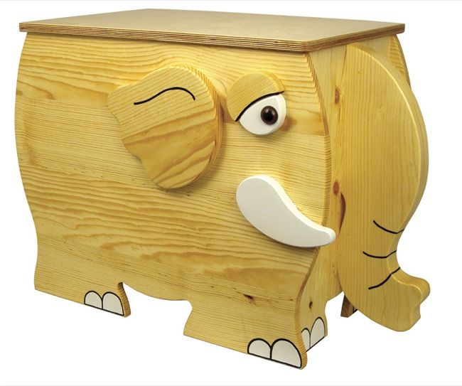 Childrens Elephant Toy Box Woodworking Plan In 2019 Wood Projects