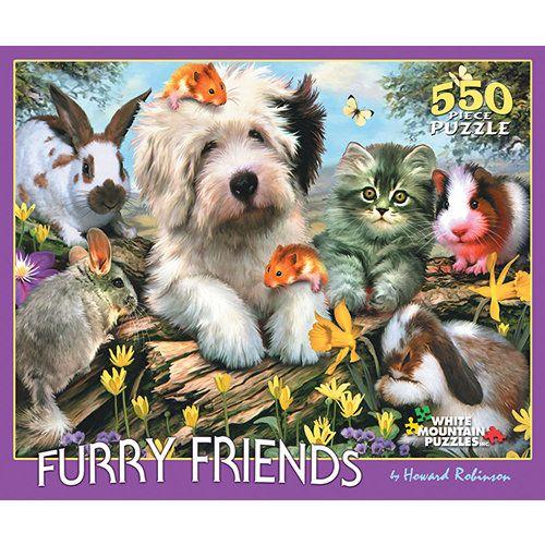 Gibsons Furry Friends 1000 Piece Jigsaw Puzzle
