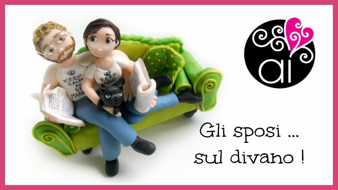 Wedding cake topper tutorial gli sposi sul divano groom and