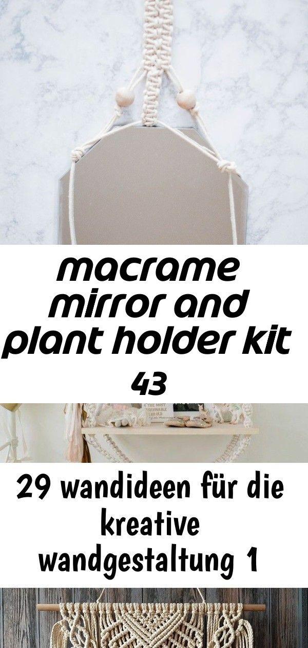 Macrame mirror and plant holder kit 43 #wanddekoselbermachen