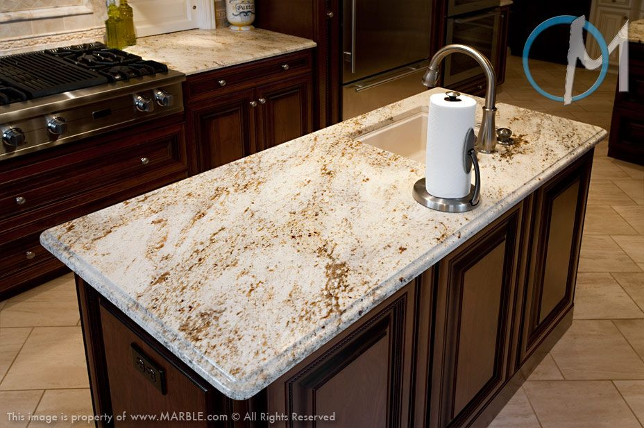 Best Gold Antique On Cherry Cabinets Granite Countertops For 400 x 300