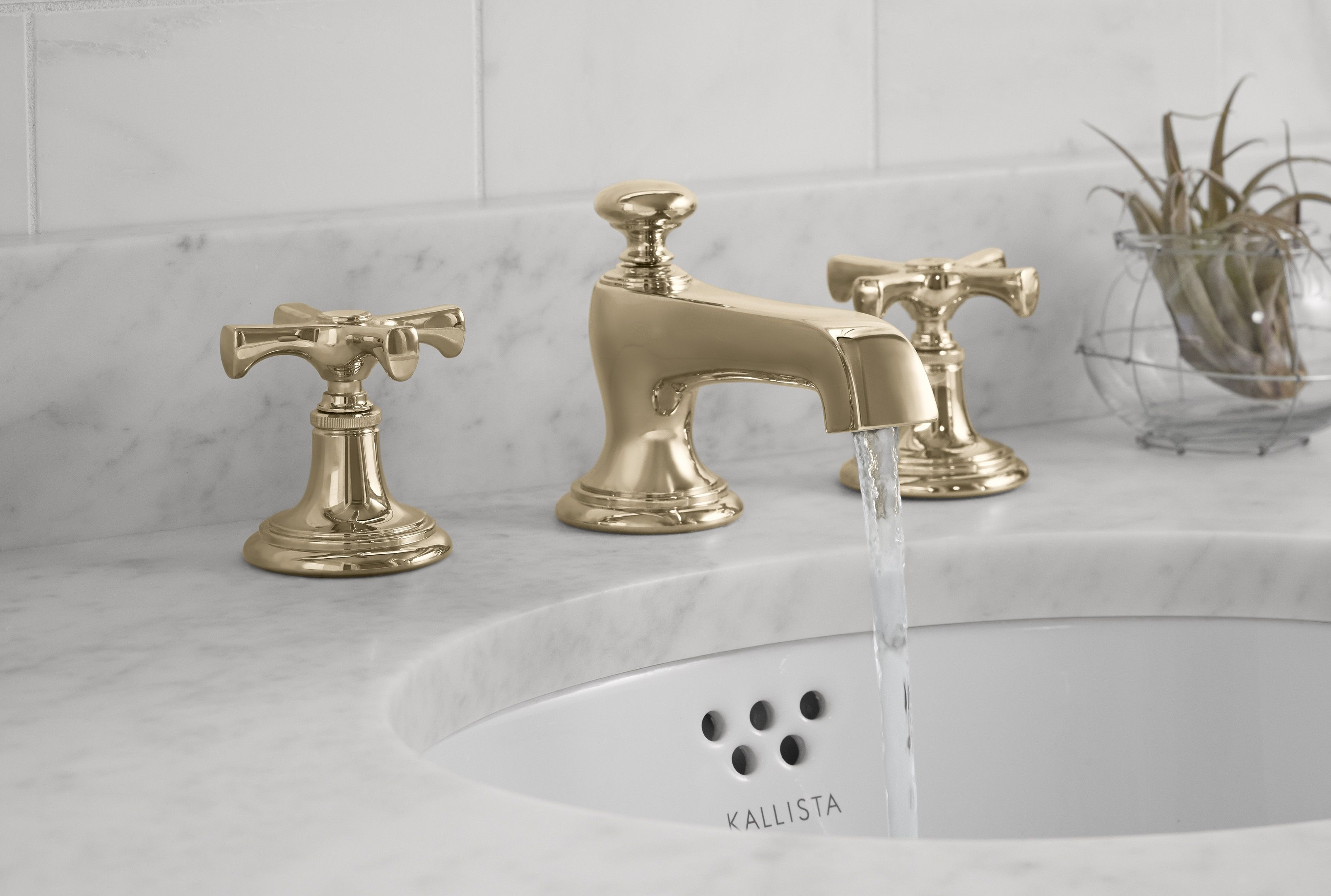 bellis traditional basin faucet set with cross handles in