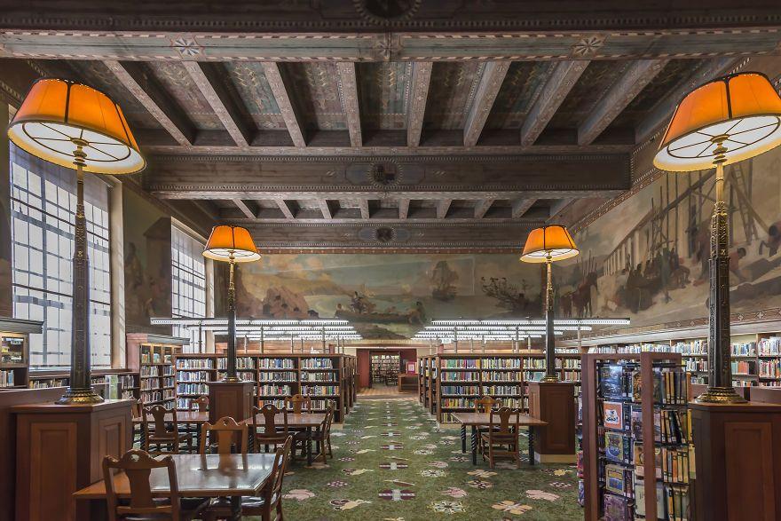 Los Angeles Public Library Los Angeles California Beautiful Library Jose Vasconcelos Library California Photos