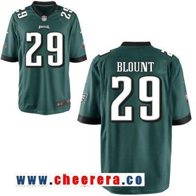 ada4cee40 Men s Philadelphia Eagles  29 LeGarrette Blount Midnight Green Team Color  Stitched NFL Nike Elite Jersey