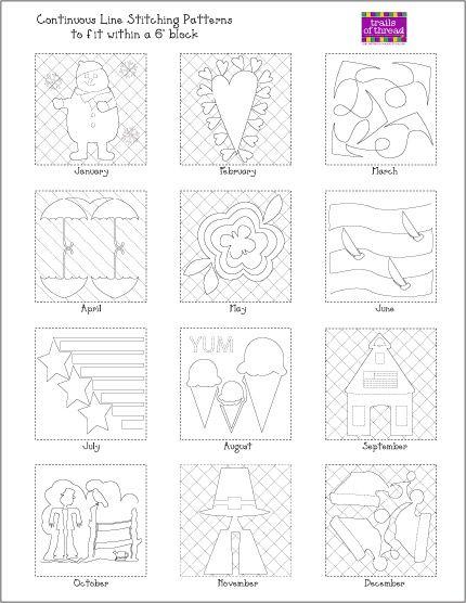 Free continuous line stitching pattern | Sewing Tutorials ... : hand quilt stitch patterns - Adamdwight.com