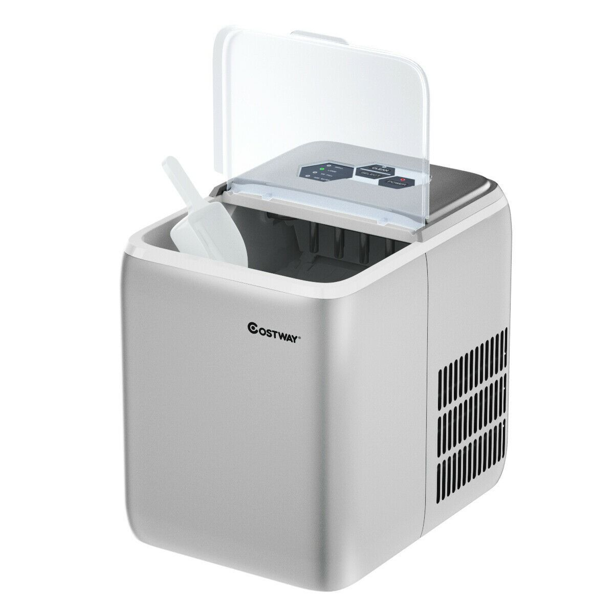 44 Lbs Portable Countertop Ice Maker Machine With Scoop Ice