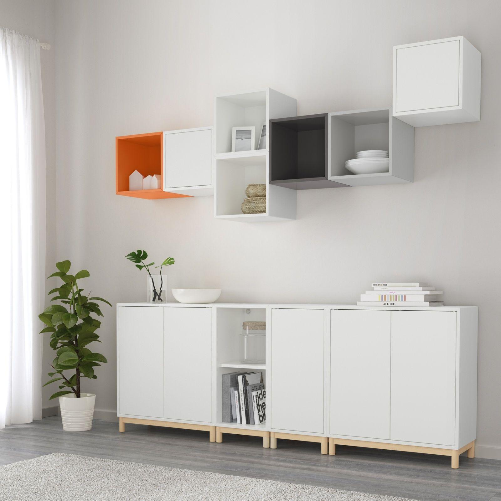 Album 23 Eket La Nouvelle Gamme De Chez Ikea Changement De Decor Autour De La Tele Le Blog Generateur D Inspiration Design Ikea Living Room Decor Apartment Armoire De Salon
