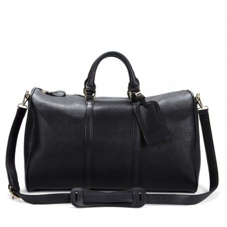 Cassidy Vegan Weekender Bag Black By Solesociety Soler Mcintosh Calvino Society Us